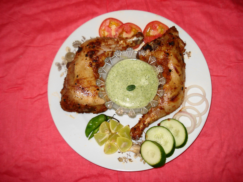 File:Chicken Tikka with Mint Raita and Salad.JPG - Wikimedia Commons