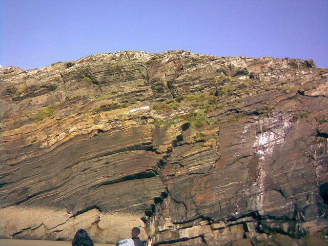 Cliffs near Graig Ddu, Morfa Bychan - geograph.org.uk - 838549