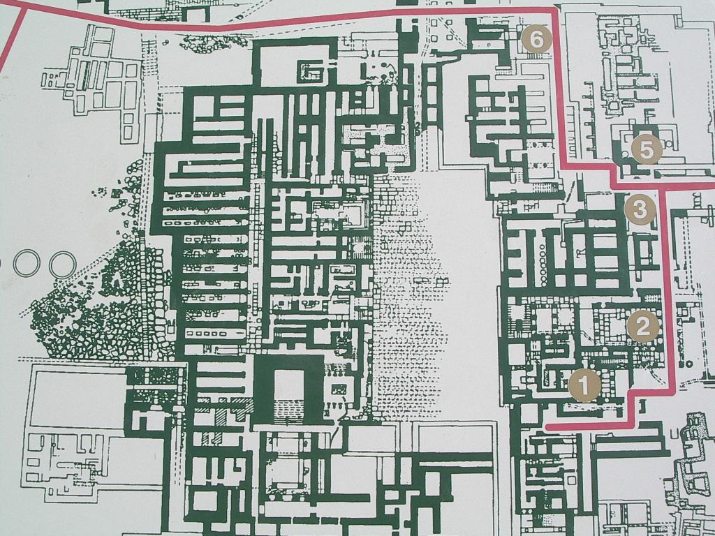 Planta del Palacio de Knosos