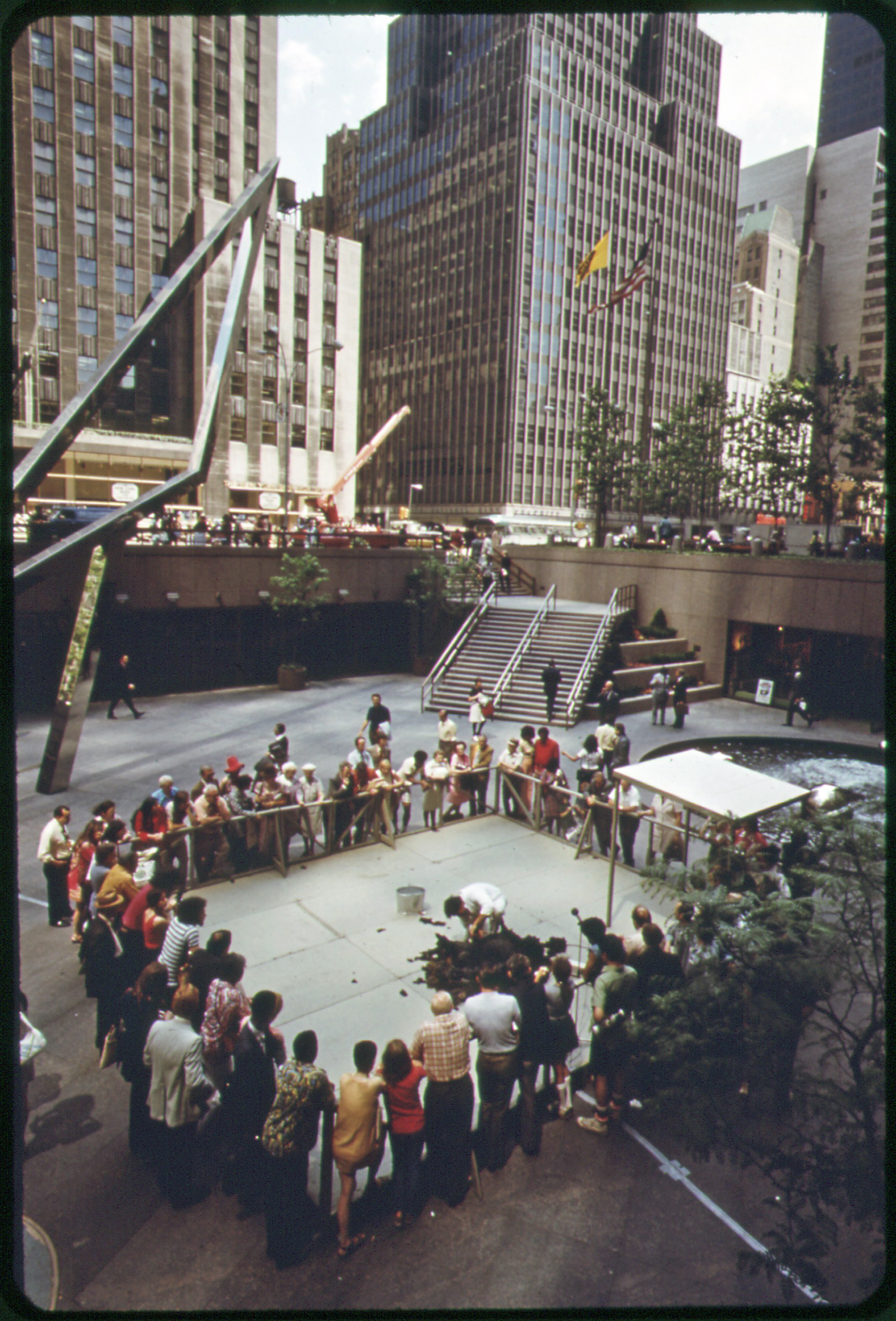 Park Place Motors >> File:DEMONSTRATING SHEEPSHEARING IN THE SUNKEN PLAZA OF THE MCGRAW-HILL BUILDING AT ROCKEFELLER ...
