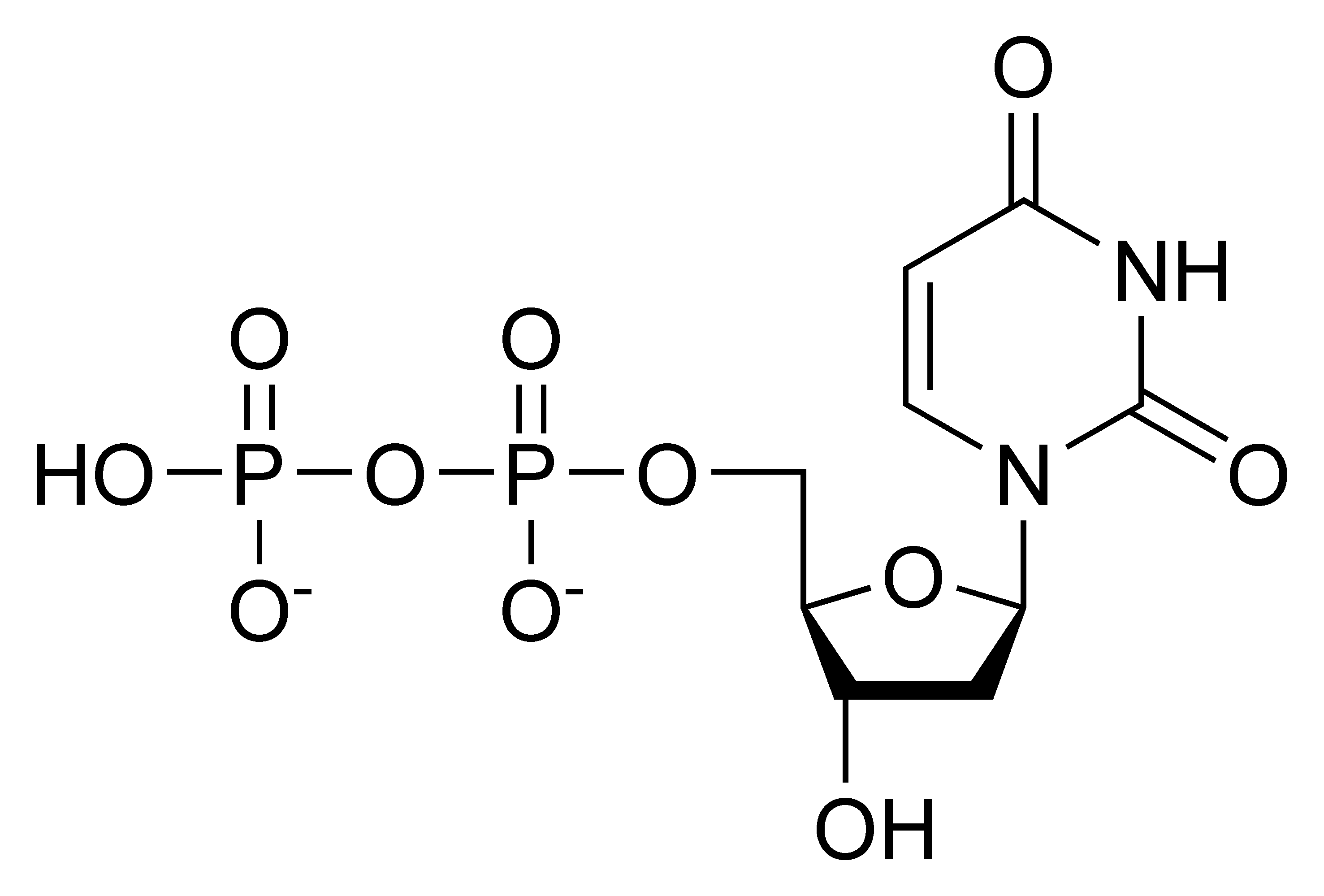 Chemical structure of deoxyuridine diphosphate