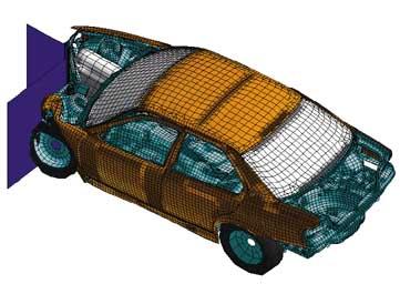 Simulation numérique d'un crash de véhicule en IAO.