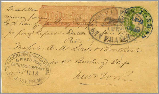 writing cover letters file eastbound pony express apr3 1860 jpg 1860