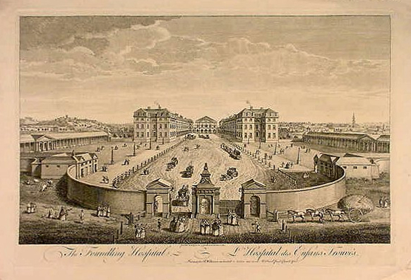 A view of London Foundling Hospital by T. Bowles, 1753