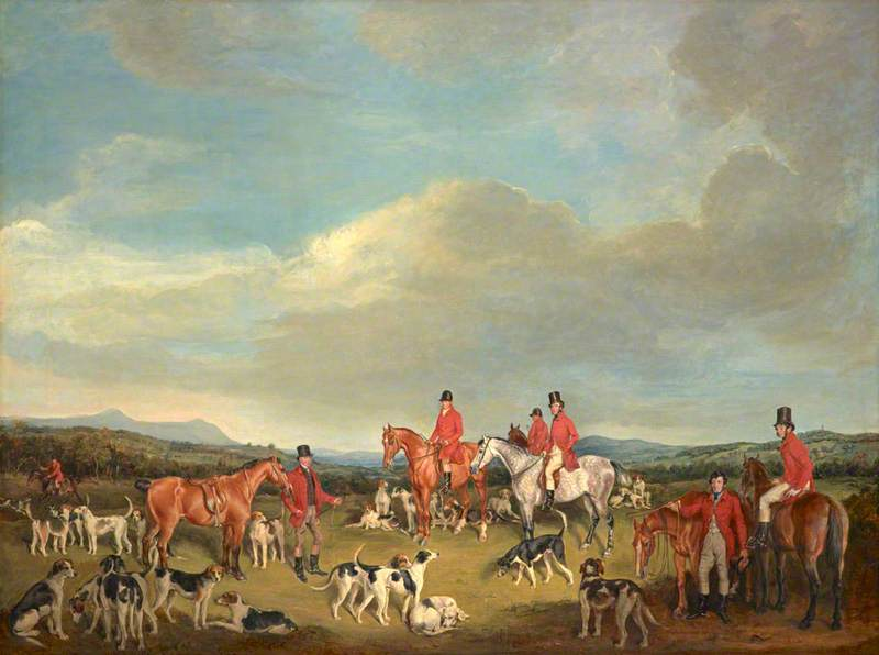 Francis Grant (1803-1878) - A Meet of the Fife Hounds - PG 3657 - National Galleries of Scotland.jpg