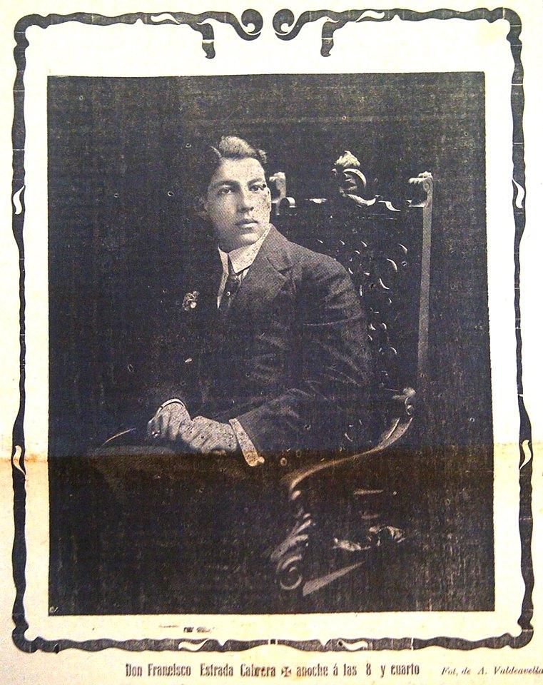 Nota luctuosa de Francisco Estrda Ocampo. Imagen tomada de Wikimedia Commons.