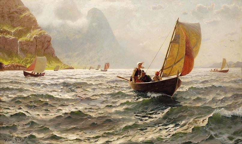 Hans Dahl - Upon Sunny Waves - Quelle: WikiCommons - Details Artikelende