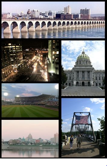 Harrisburg, Pennsylvania photomontage
