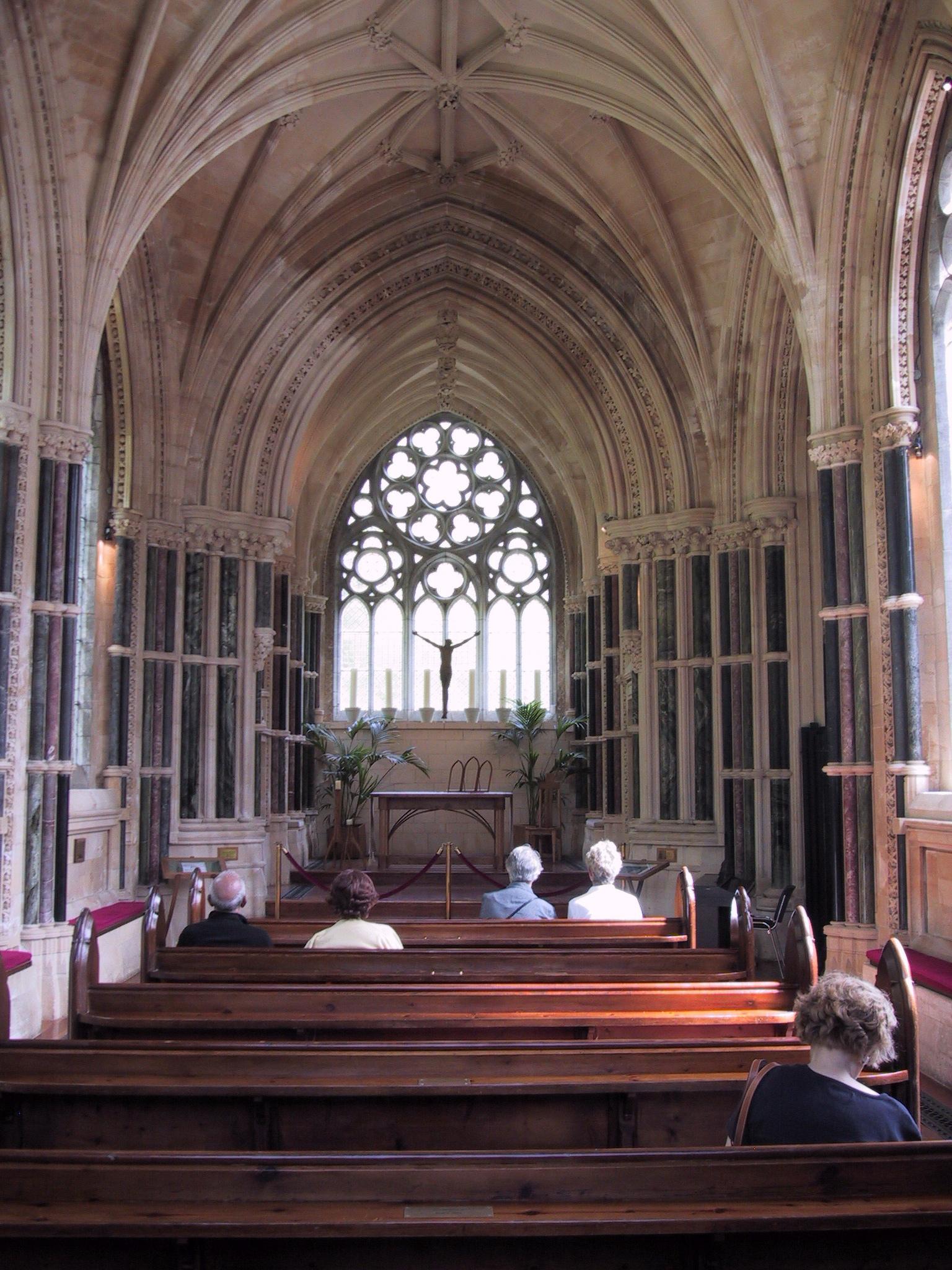 File:Inside the chapel of Kylemore Abbey, Connemara, Co ...
