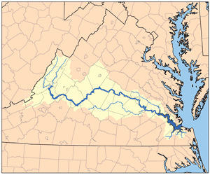 James River watershed