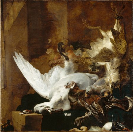 http://upload.wikimedia.org/wikipedia/commons/7/75/Jan_Baptist_Weenix_-_Still_Life_with_a_Dead_Swan.jpg