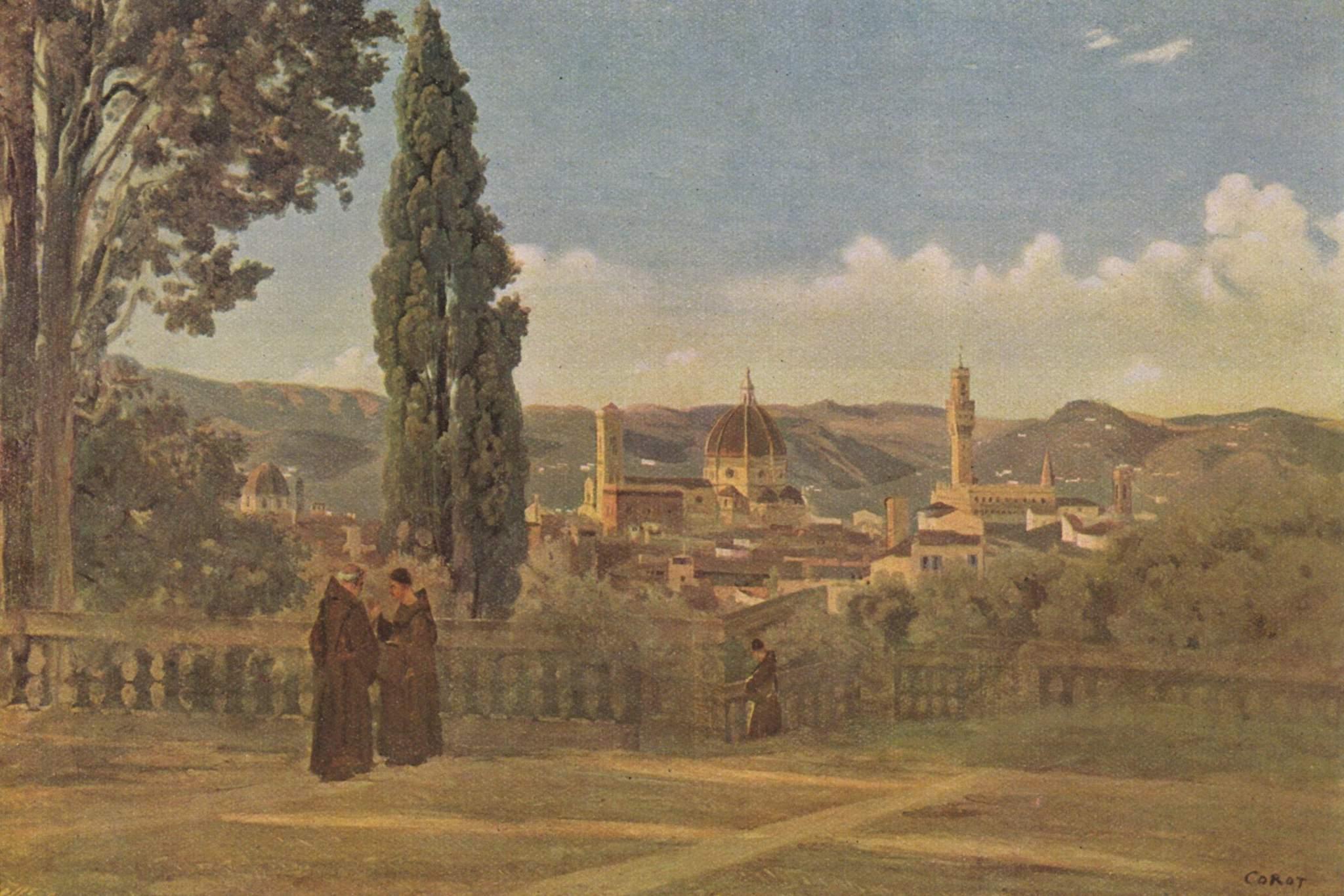 File jean baptiste camille corot vue de florence depuis for Jardin de the