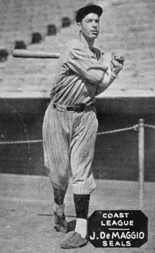 Joe DiMaggio SF Seals batting