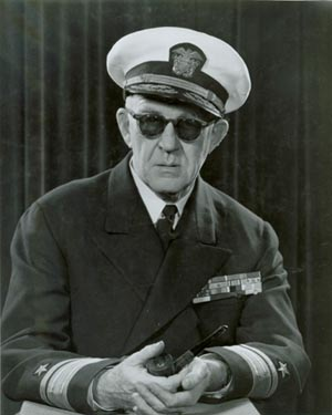 John Ford in admiral's uniform