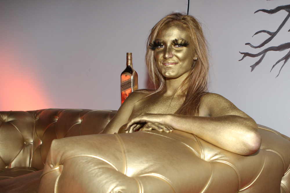 Recommend Naked men and women painted gold quite