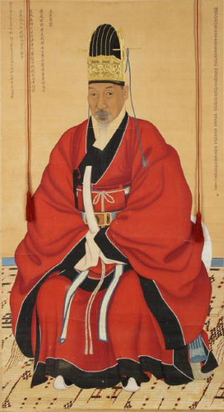 Portrait of The Chief State Councillor Chae Jegong (1720~1799) Joseon-Portrait of Cha Jegong-Geumgwanjobok.jpg