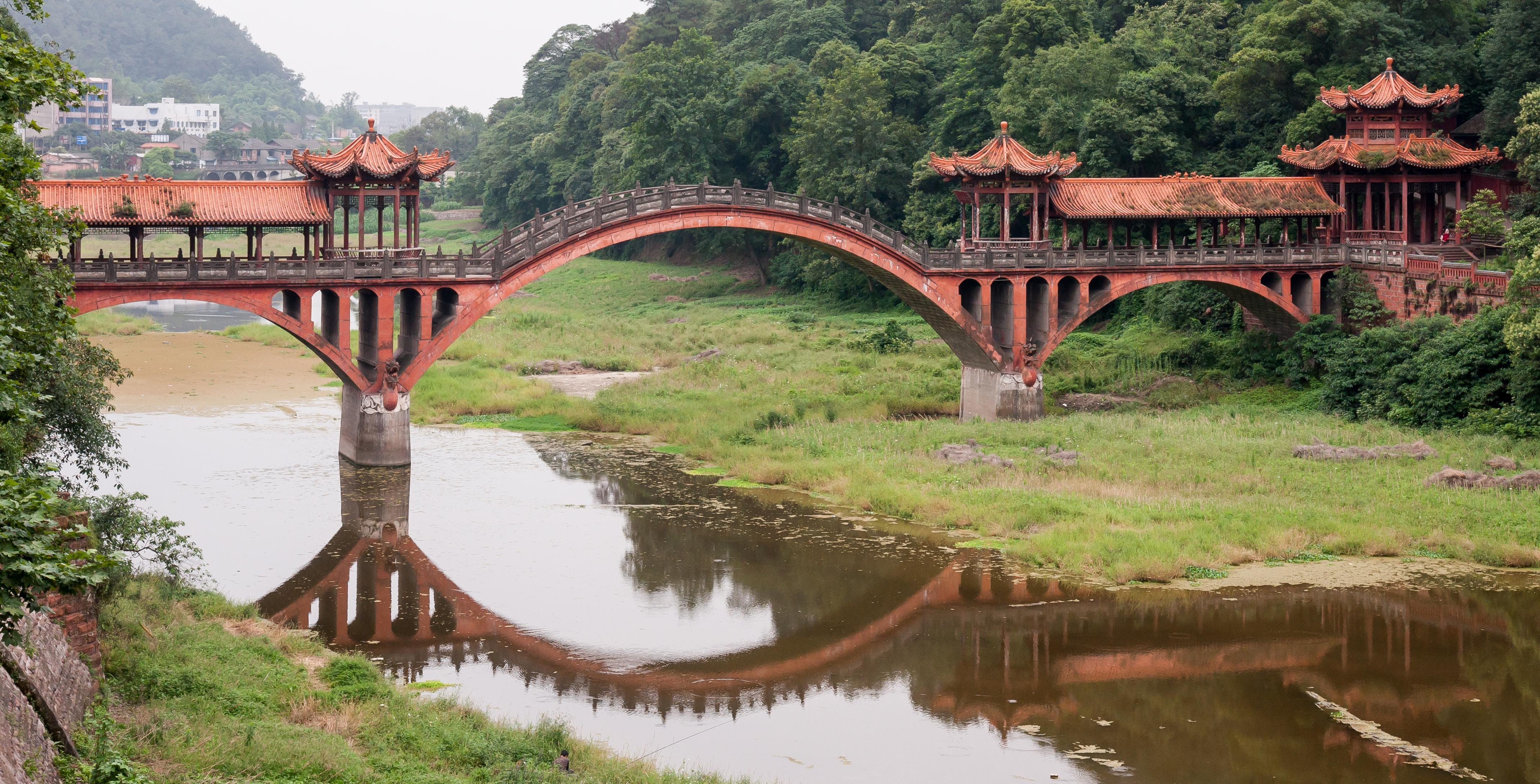 Leshan China  city photos gallery : the old stone arch bridge at leshan china