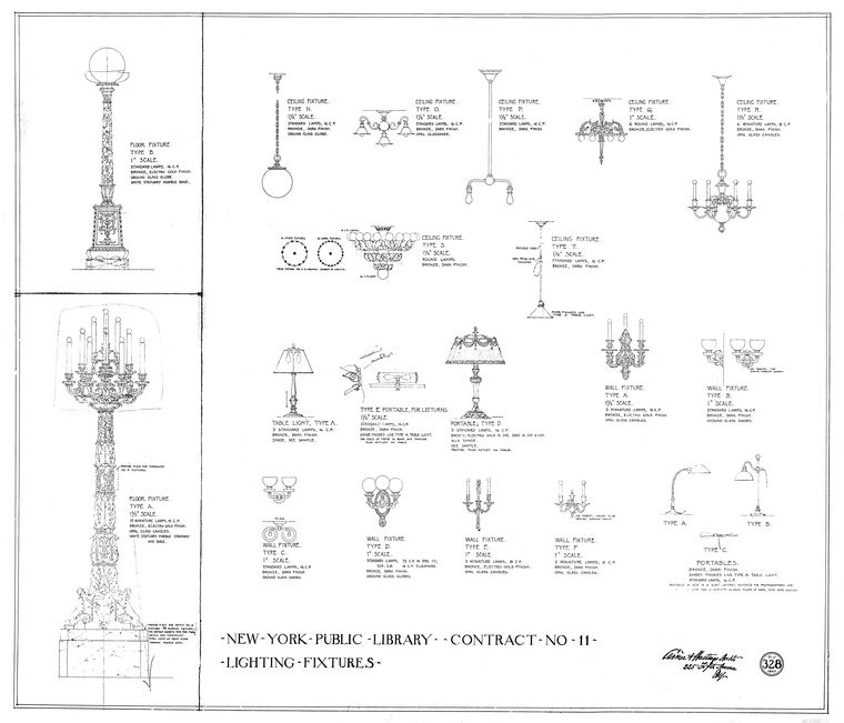 File:Lighting fixtures architectural plans New York Public Library ...