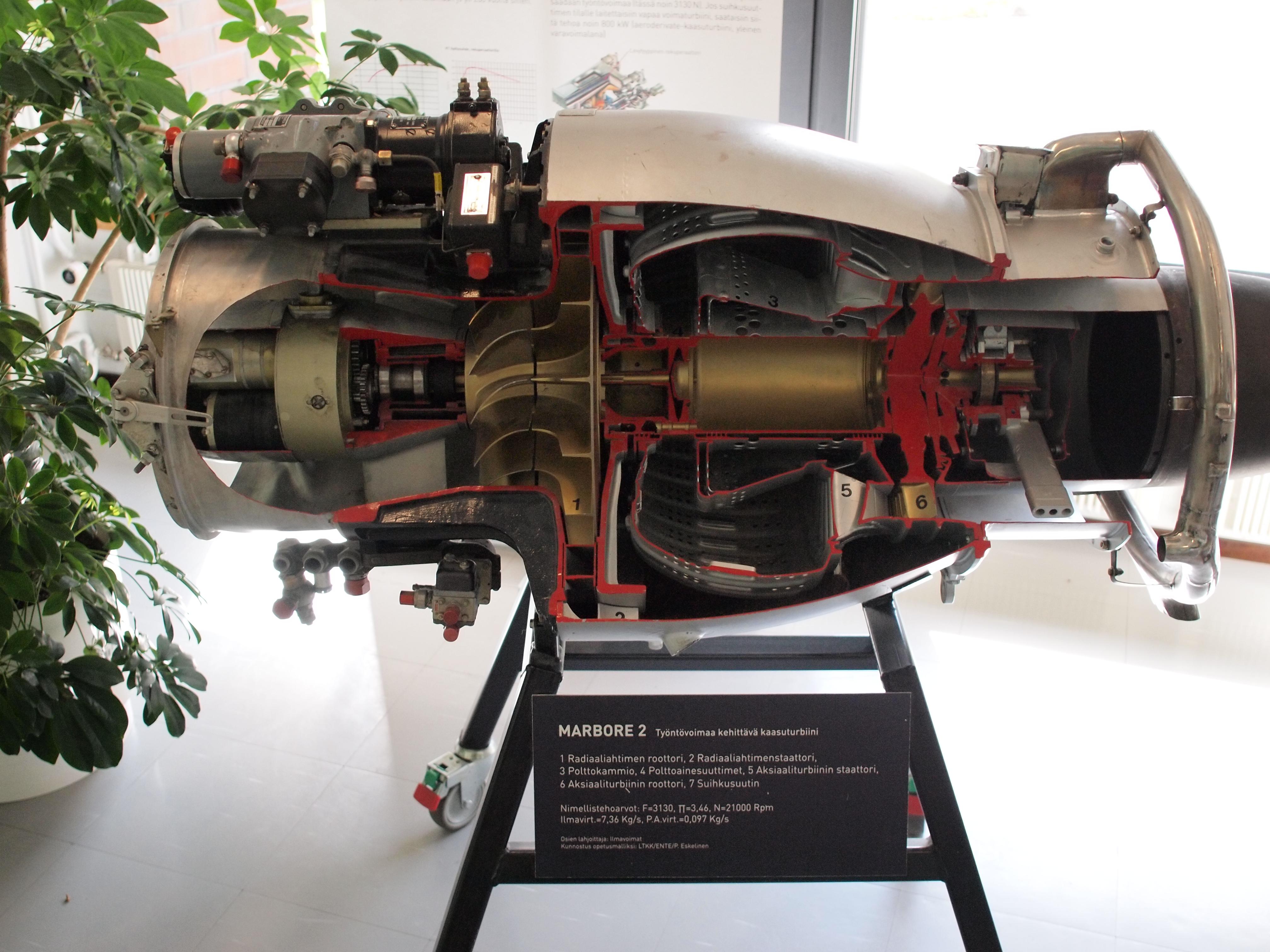 File Marbore 2 gas turbine cutaway 02 JPG Wikimedia mons