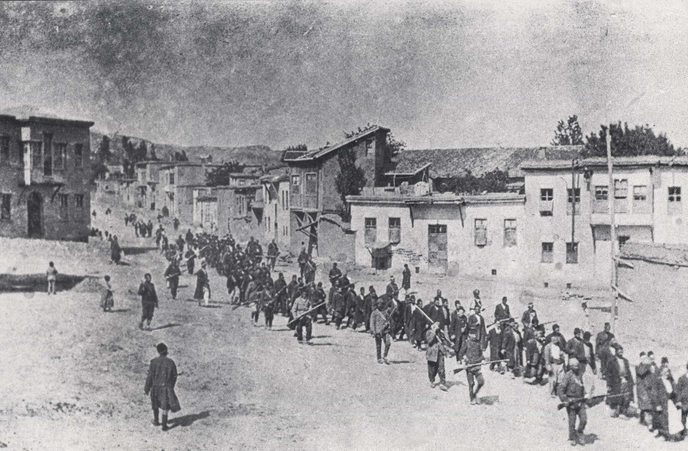 Armenian villagers being escorted to a nearby prison