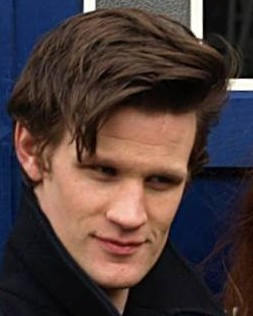 Matt Smith and Karen Gillan at Salford (cropped) (cropped to Smith face).jpg