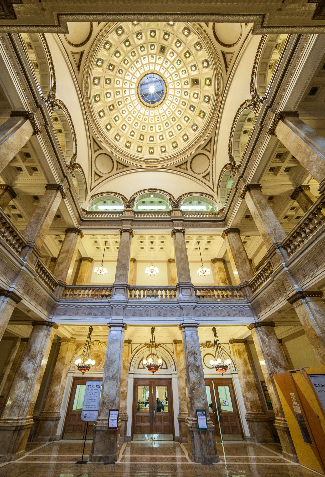 Interior Lobby And Ceiling Obtained From Wikimedia Commons Under The Terms Of GNU Free
