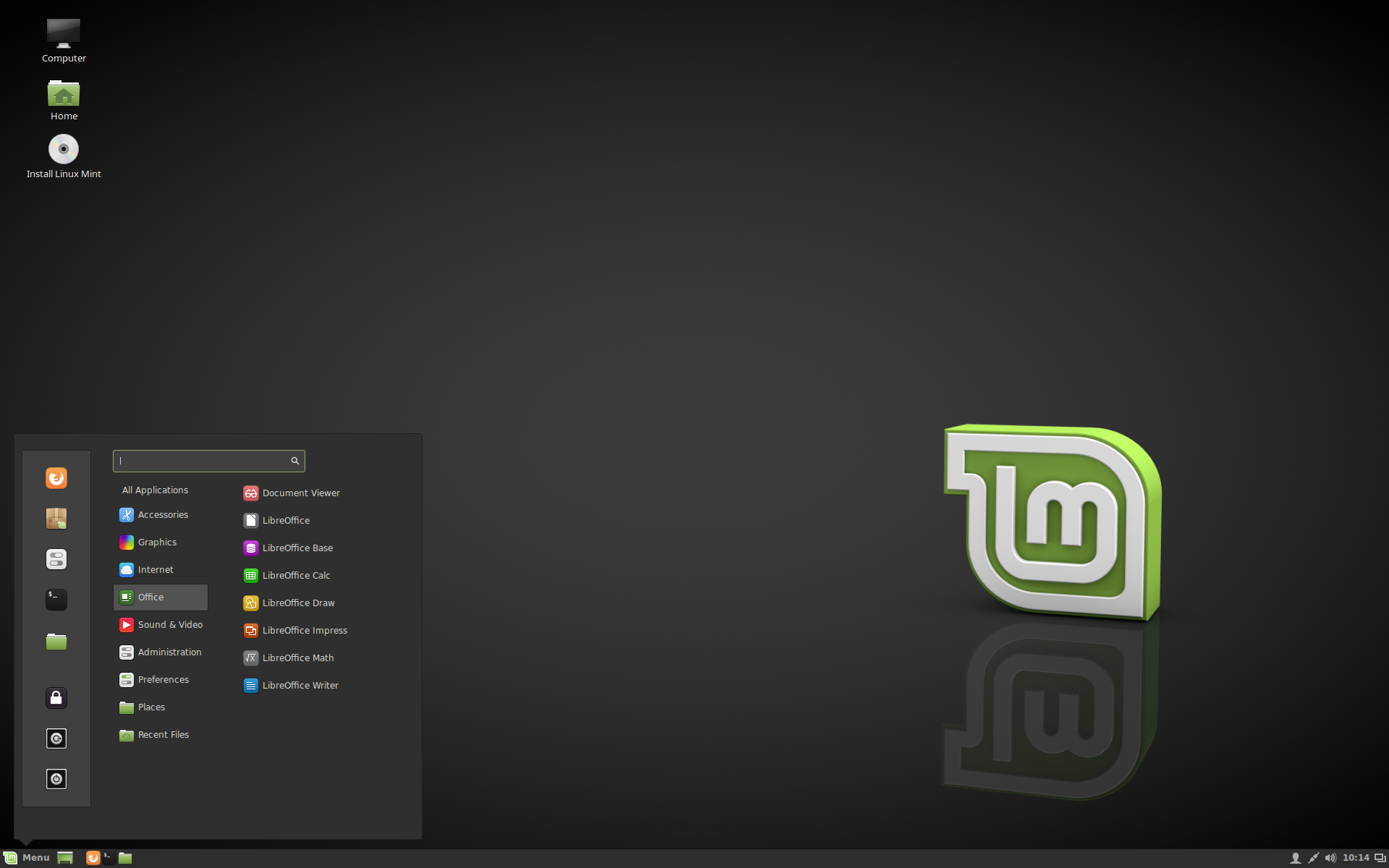 Linux Mint Desktop Screenshot