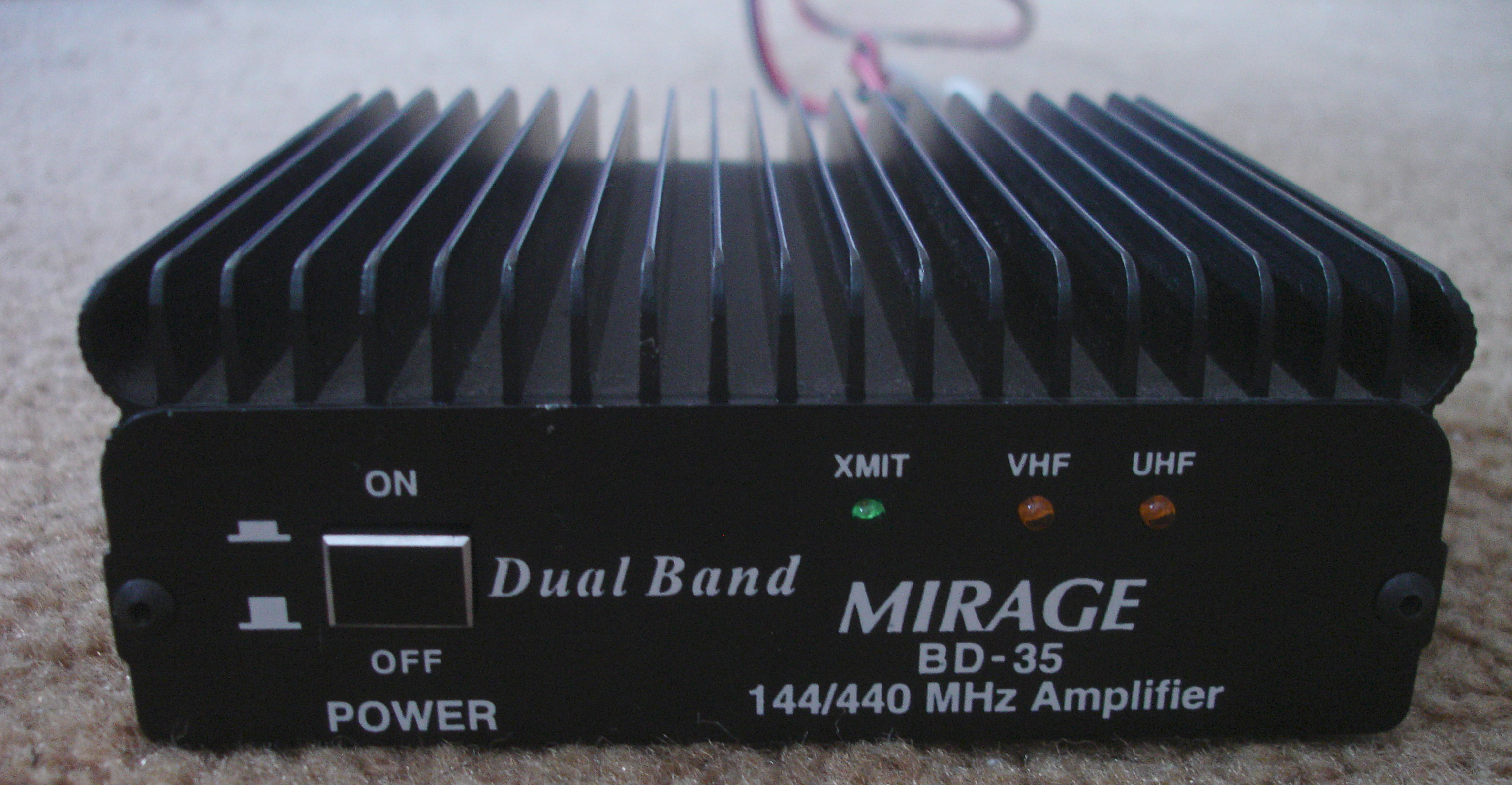 File:Mirage BD-35 amplifier front without 13 8vDC cable jpeg
