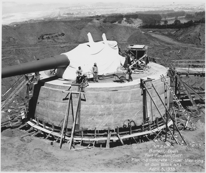File No 246a Battery Davis Fort Funston Calif Placing
