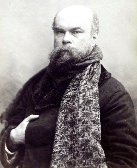 Verlaine en 1893 (49 años), por Otto Wegener
