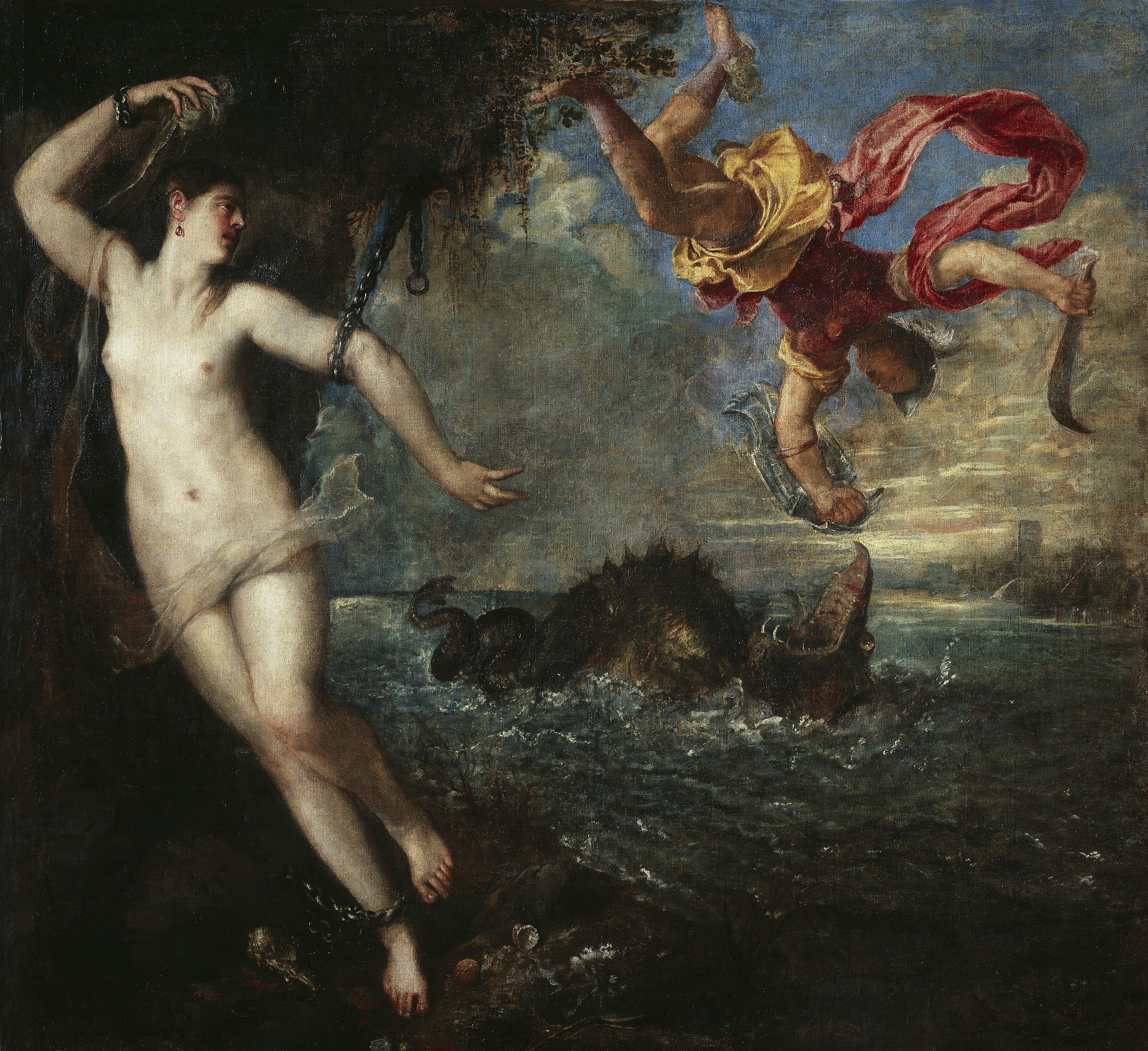 Tizian: Kampf des Persus mit dem Seeungeheuer