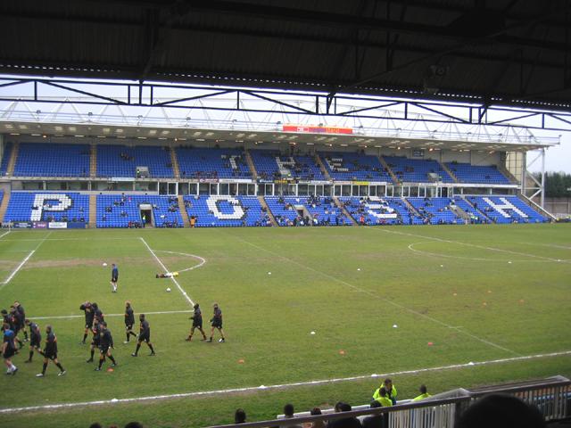 Peterborough United's London Road stadium after game