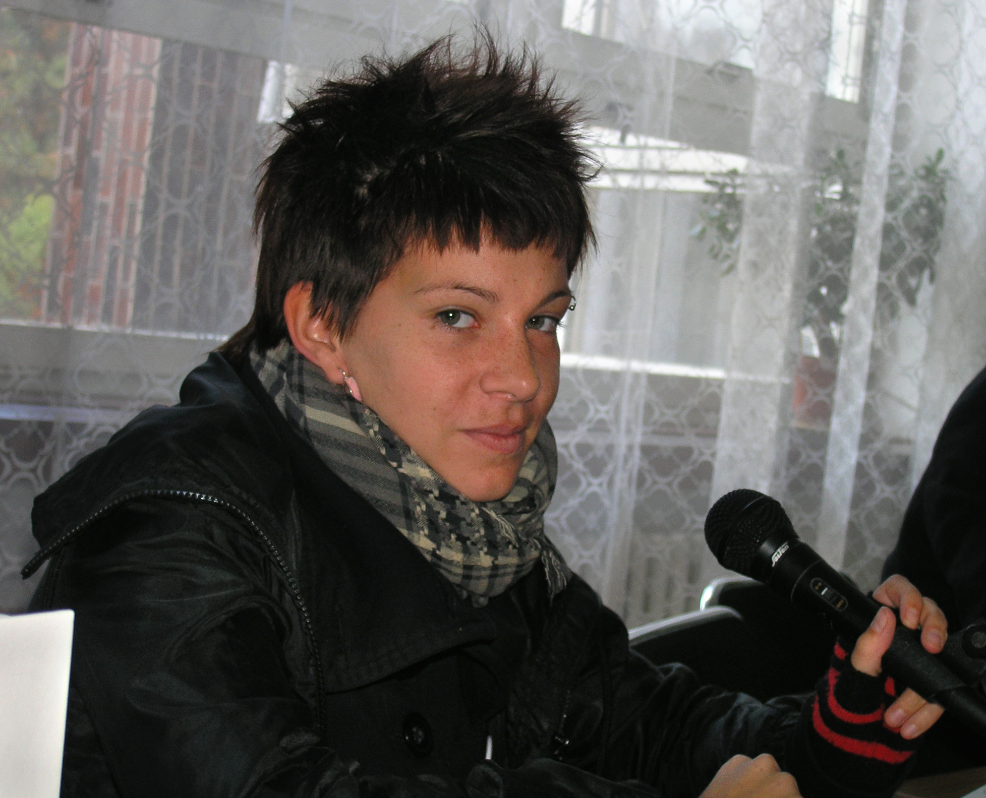Petra Soukupová at the Autumn Book Fair in Havlíčkův Brod, Czech Republic in 2011.