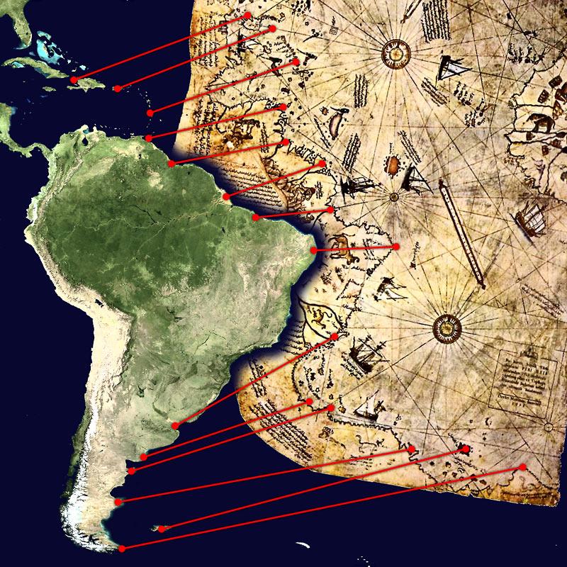 Возможная интерпретация карты адмирала Пири
