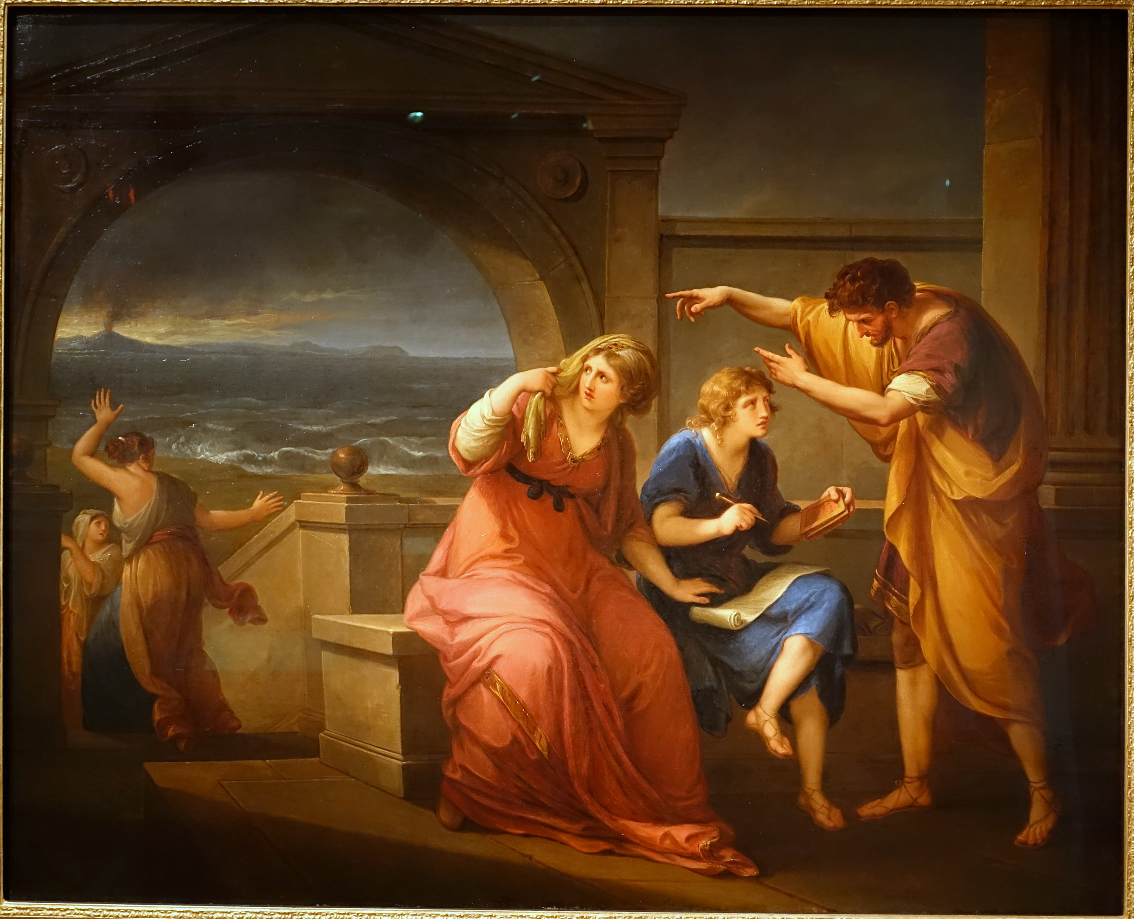 Pliny The Younger And His Mother At Misenum C A D C By Angelica Kauffmann C English C C Oil On Canvas Princeton University Art Museum Dsc