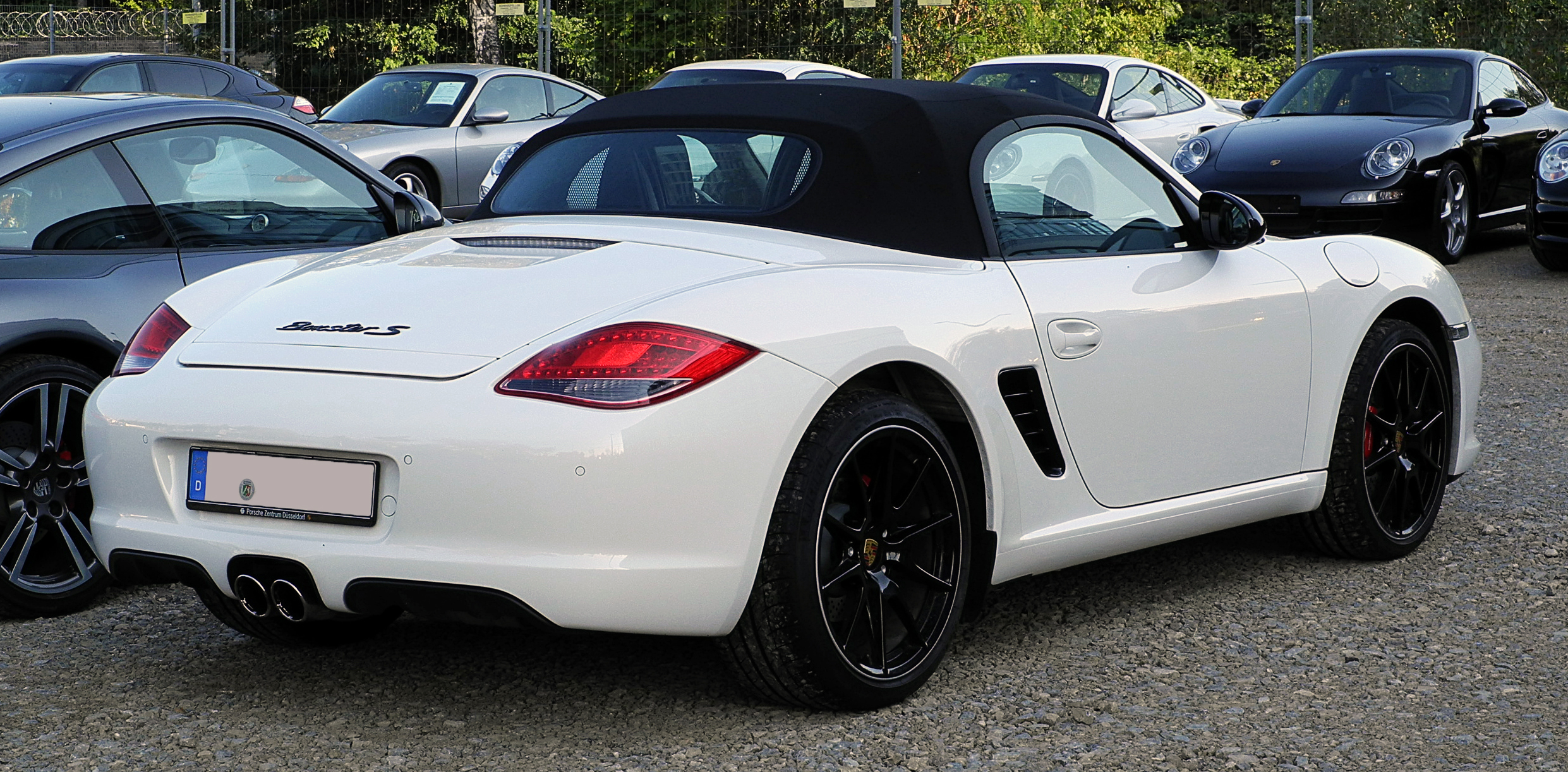 file porsche boxster s 987 facelift heckansicht 25 september 2011 d wikipedia. Black Bedroom Furniture Sets. Home Design Ideas