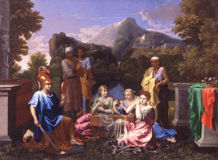 Poussin - 1656 - Achilles on Skyros