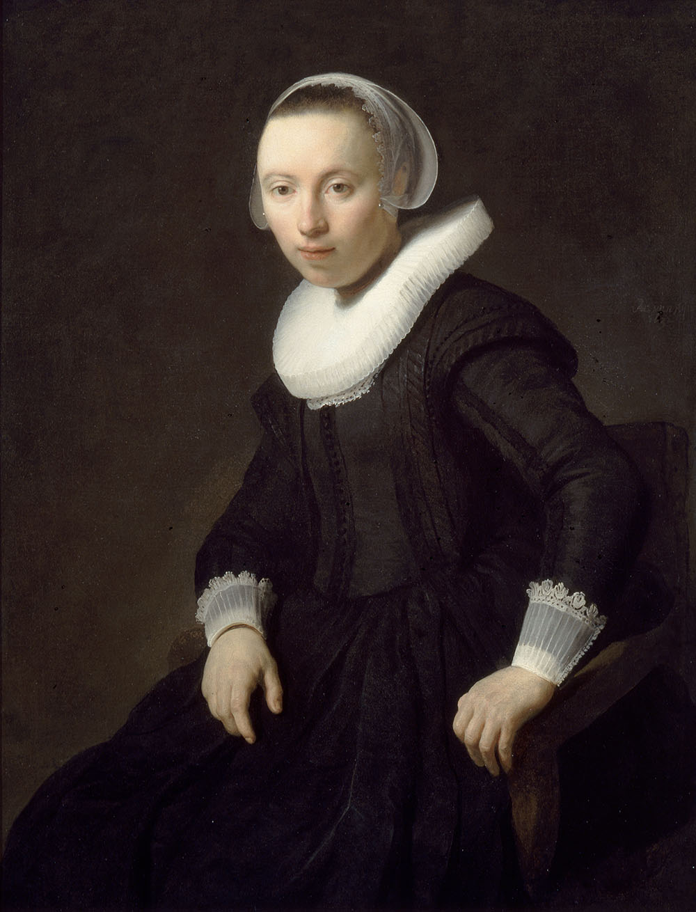 filerembrandt portrait of a woman seated viennajpg