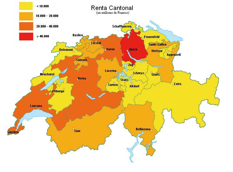 Mapa suiza cantones for Oficina de turismo de suiza en madrid