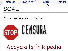 {{es Censura de la SGAE en La Frikipedia.
