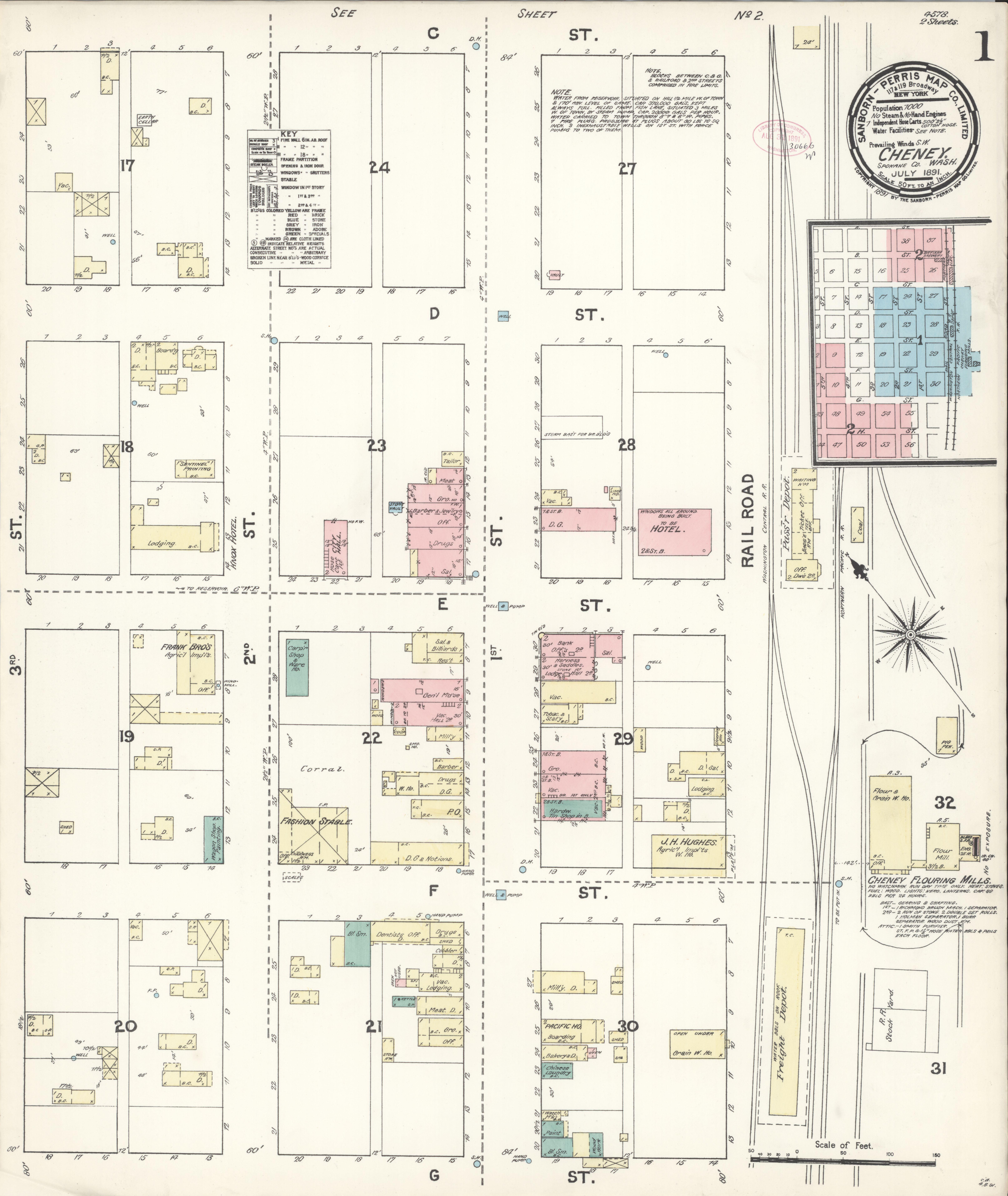 File Sanborn Fire Insurance Map From Cheney Spokane County