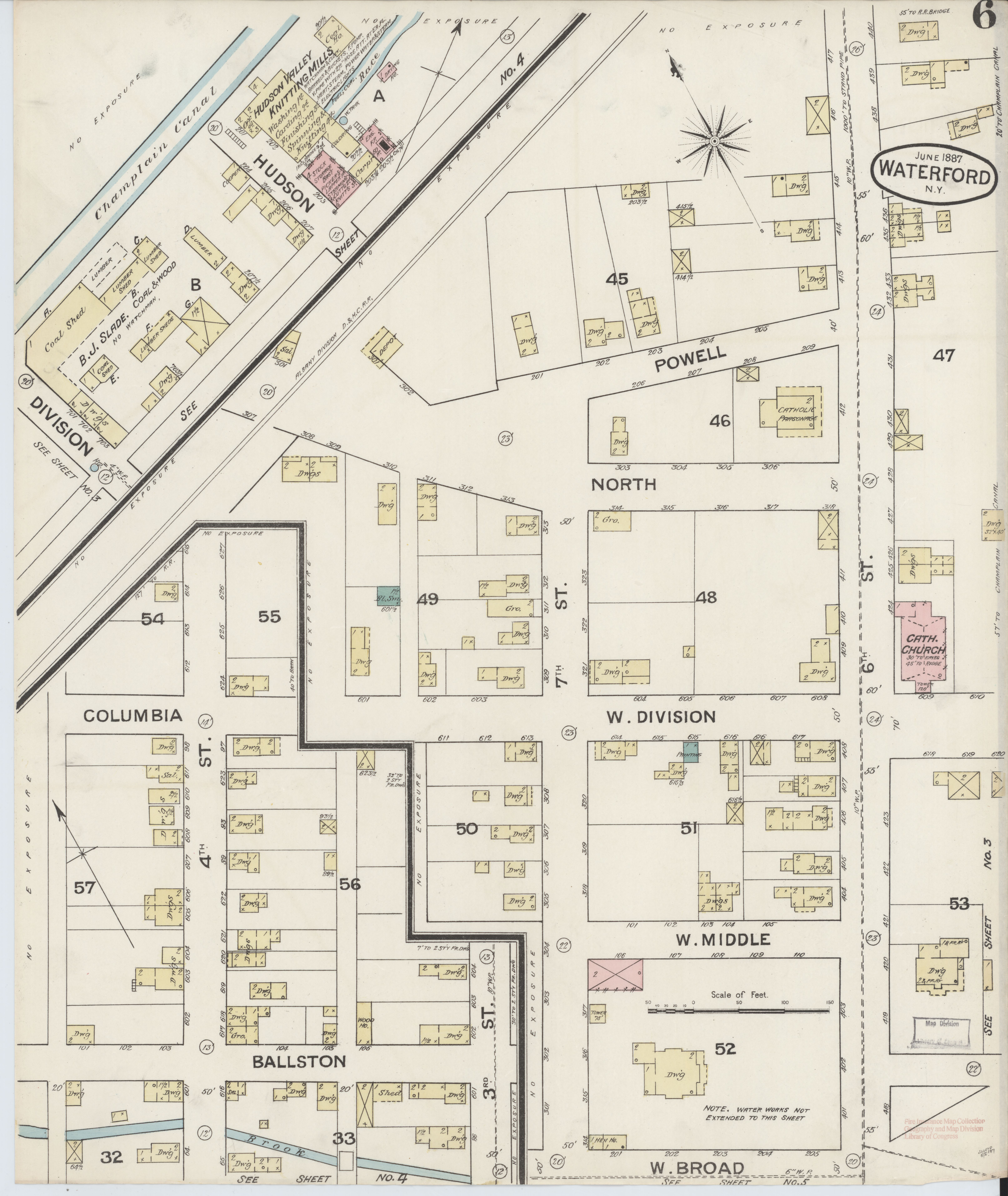 File:Sanborn Fire Insurance Map from Waterford, Saratoga County