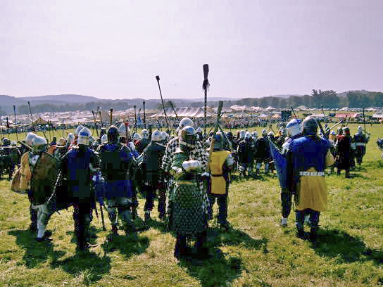 Pennsic 32 before the field battle as shot fro...