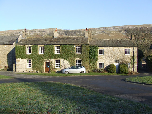 Stone Cottages on Arncliffe Village Green - geograph.org.uk - 636798