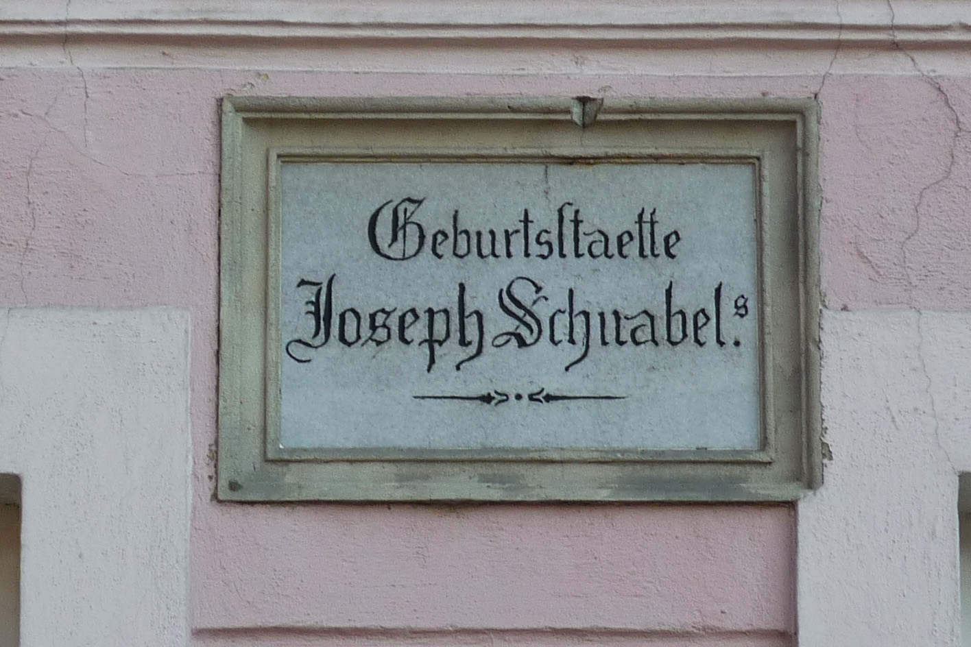 Plaque at his birthplace in Naumburg