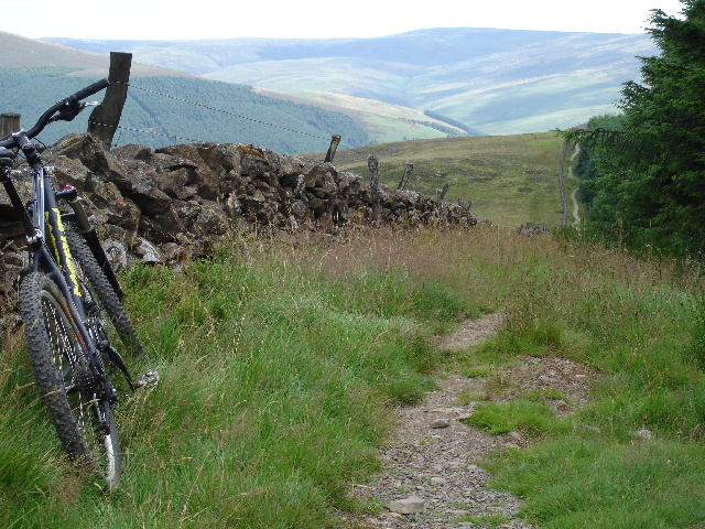 The 'Boundary Trail' at Glentress, Scotland.