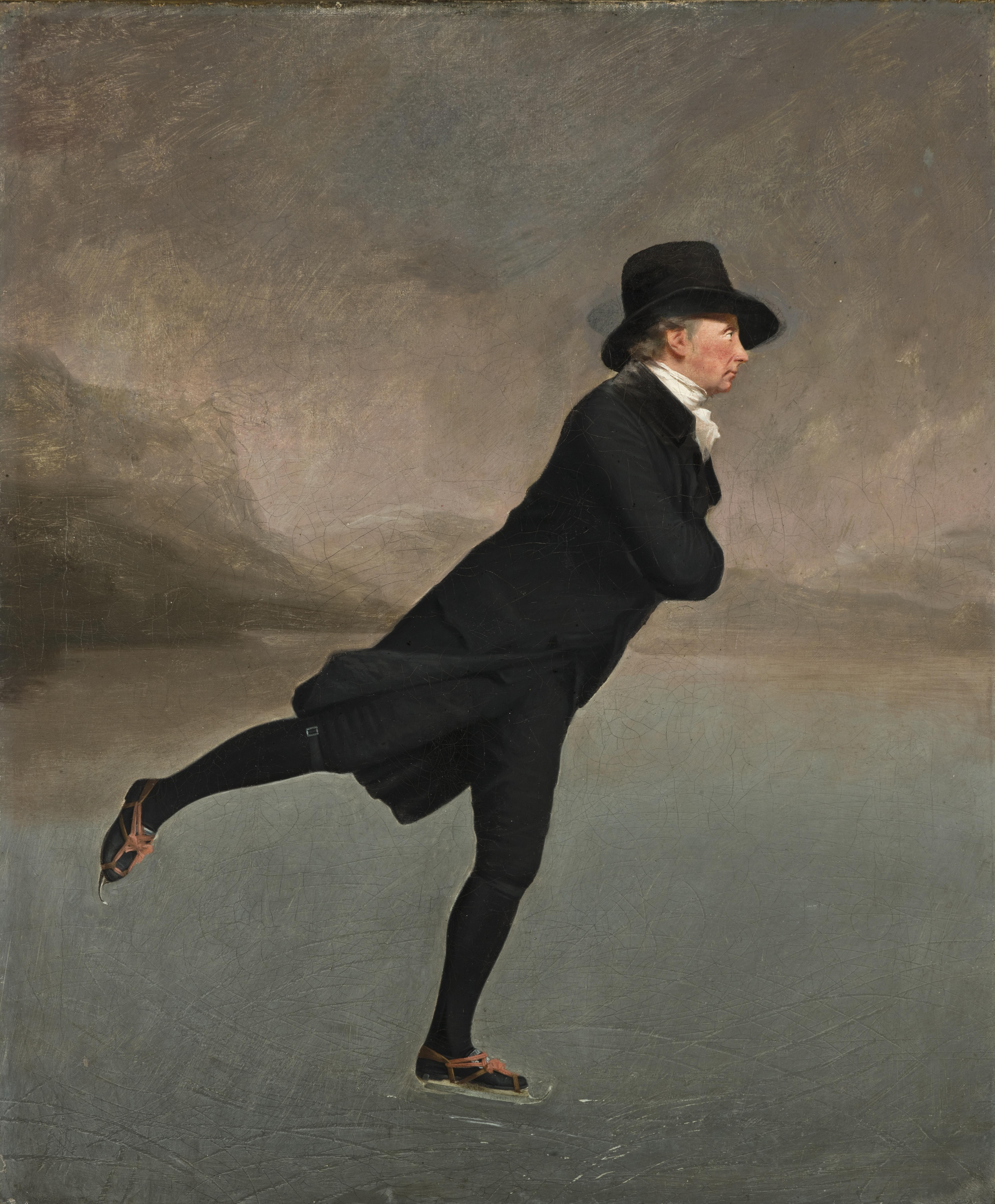 ice skating the skating minister by henry raeburn depicts a member of the edinburgh skating club in the 1790s