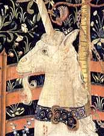 The Unicorn in Captivity - detail head