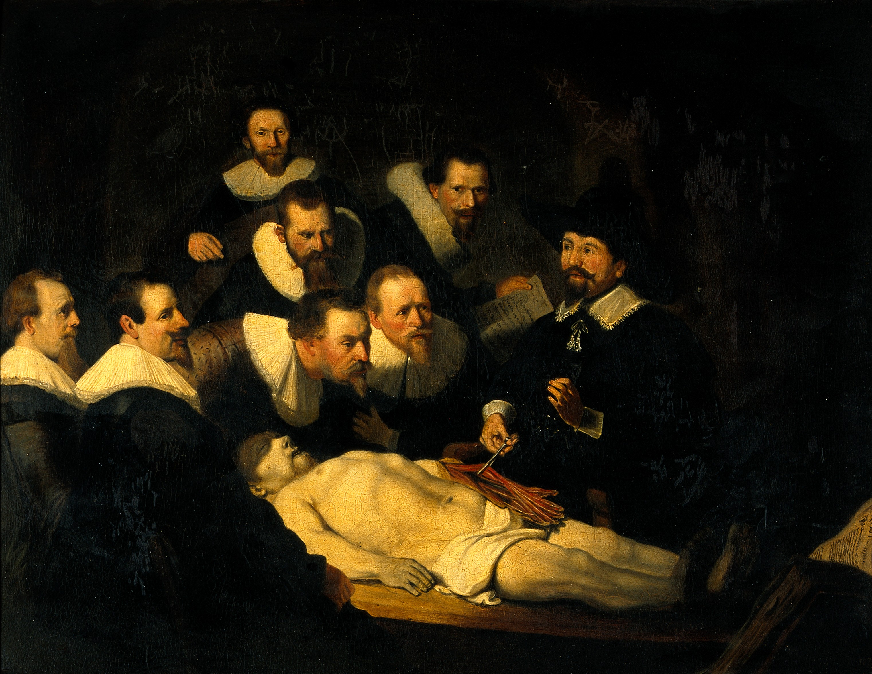 File:The anatomy of Dr Nicolaes Tulp. Oil painting after Rembrand ...