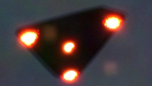 Flying triangle claimed to have been photographed on June 15, during the 1990 Belgian UFO Flap
